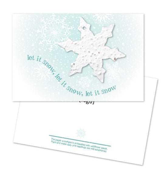 クリスマスシェイプ付きポストカード