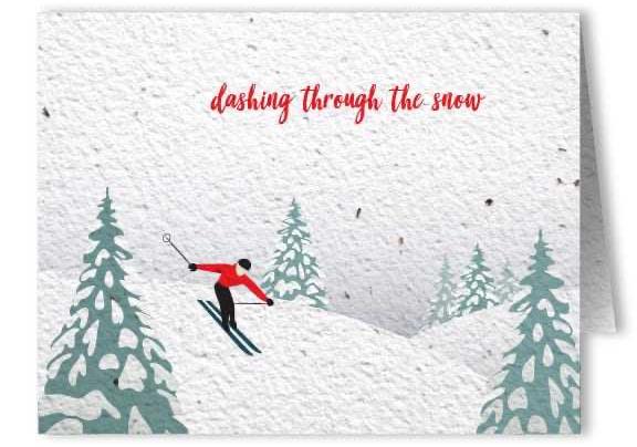 シードペーパー製クリスマスカード